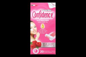 Полоски для депиляции лица восковые для нормальной кожи Confidence Super-Max 20шт