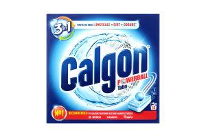 CALGON засіб д/помякш.води 15 таб. для пральн.машин 3-в-1