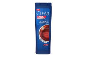 Шампунь для волос против перхоти мужской 2в1 Ultimate Control Clear 400мл