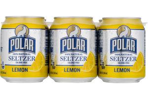 Polar Seltzer Water Lemon - 6 CT