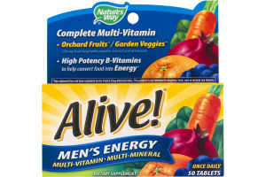 Nature's Way Alive! Men's Energy Multi-Vitamin Tablets - 50 CT