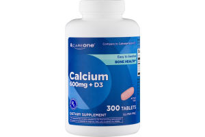 CareOne Calcium 600mg + D3 Tablets - 300 CT