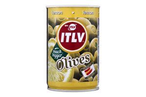 Оливки зелені фаршировані лимоном ITLV з/б 300г
