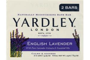 Yardley London Moisturizing Bath Bar English Lavender - 2 CT