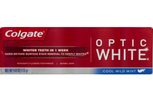 Colgate Fluoride Toothpaste Optic White Cool Mint Mint