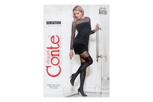 Колготки жіночі Conte Fantasy Sensation №18С-15СП 60den 2-S nero