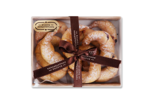 Печенье Рогалики с вишней