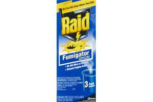 Raid Fumigator Dry Fog Kills Bugs- 3 CT