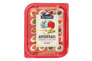 Сир 70% Ile de France Aperifrais смаки лазурового берега п/у 100г