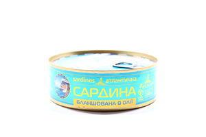 Сардина Baltijas бланшована в олії ж/б 240г