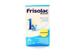 Смесь 1 с нуклеотидами сухая молочная 0-6мес Frisolac к/у 400г