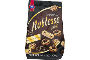 Noblesse Noir Biscuits And Wafers With Fine Dark Chocolate