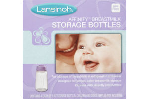 Lansinoh Affinity Breastmilk Storage Bottles - 4 CT