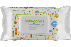 Babyganics Face, Hand & Baby Wipes Fragrance Free - 100 CT