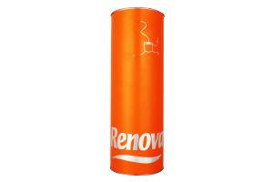 Бумага туалетная Renova оранжевая тубус