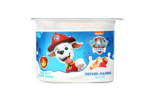 Йогурт 2% Персик-Малина Paw Patrol Danone ст 115г