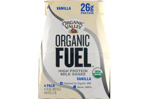 Organic Valley Organic Fuel High Protein Milk Shake Vanilla - 4 CT