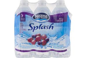 Nestle Splash Flavored Water Acai Grape - 6 PK