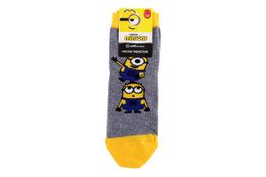 Шкарпетки жіночі Брестские Minions №20C1124 23 309 сірий меланж