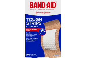 Band-Aid Adhesive Bandages Tough Strips Extra Large - 10 CT