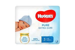 Влажные салфетки многослойные детские Pure Huggies 168шт