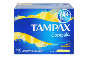 Тампони гіг.Tampax Compak Regular 16шт