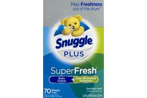 Snuggle Plus SuperFresh Sheets EverFresh Scent - 70 CT