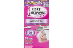 First Response Ovulation Daily Digital Ovulation Test - 20 CT