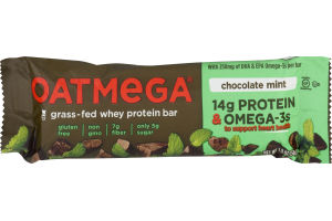 Oatmega Grass-Fed Whey Bars Chocolate Mint Crisp