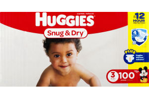 Huggies Snug & Dry Diapers Size 3 - 100 CT
