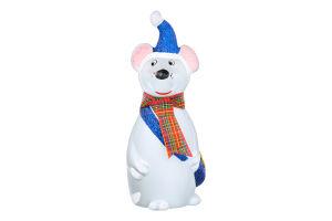 Прикраса новорічна 15см Мишка Бажан І.В. 1шт