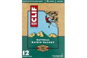Clif Bar Oatmeal Raisin Walnut - 12CT