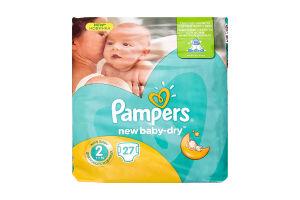 Подгузники детские 3-6кг Mini New baby - dry Pampers 27шт