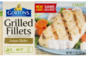 Gorton's Grilled Fillets 100% Alaskan Pollock Lemon Butter - 2 CT