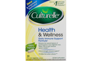 Culturelle Health & Wellness Daily Immue Support Formula Capsules - 30 CT