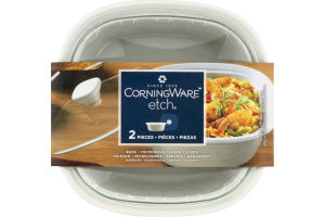 CorningWare Etch Square Baker With Glass Lid - 2 PC