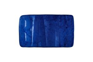 Коврик для ванной комнаты синий 45*75см Оффтоп