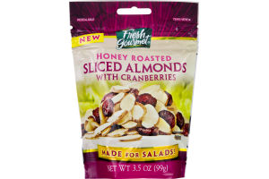 Fresh Gourmet Sliced Almonds with Cranberries Honey Roasted