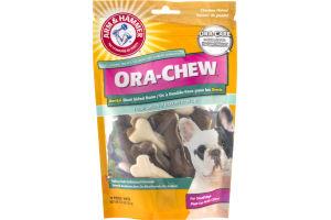Arm & Hammer Ora-Chew Chicken Flavor Dental Dual Sided Bone Fresh Breath For Small Dogs - 10 CT