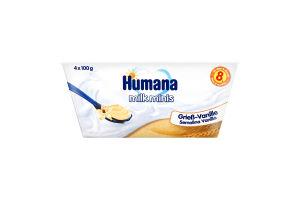 Пудинг манный с ванилью для детей от 8мес Humana п/у 4х100г