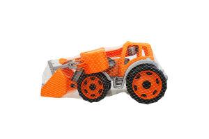 Іграшка для дітей від 3років №3671 Трактор з двома ковшами Технок 1шт