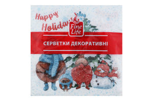 Серветки паперові декоративні 2 шари Fine Life 16шт