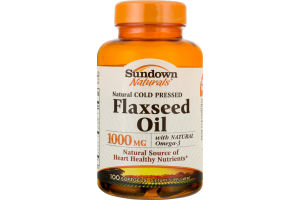 Sundown Naturals Natural Cold Pressed Flaxseed Oil 1000mg - 100 CT