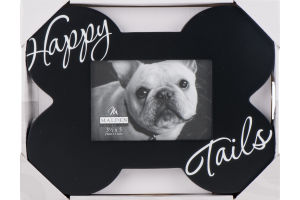 Malden 3 1/2 x 5 Bone Shaped Happy Tails Black Picture Frame