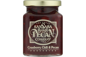 The Great San Saba River Pecan Company Cranberry, Chili & Pecan Preserves