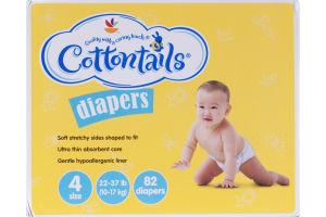 Cottontails Diapers Size 4 - 22-37 lb