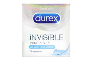 Презервативи Durex Invisible 3шт х6