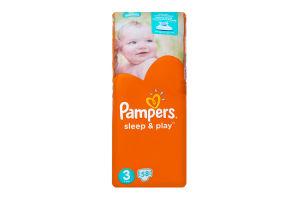 Подгузники детские 4-9кг Midi Sleep&play Pampers 58шт