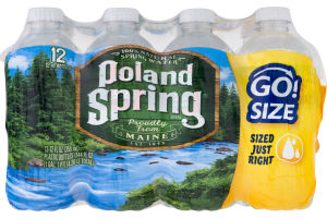 Poland Spring 100% Natural Spring Water Go! Size - 12 CT