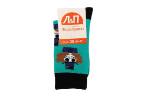 Шкарпетки чоловічі Лівий&Правий №797407 25 (39-40) бірюза